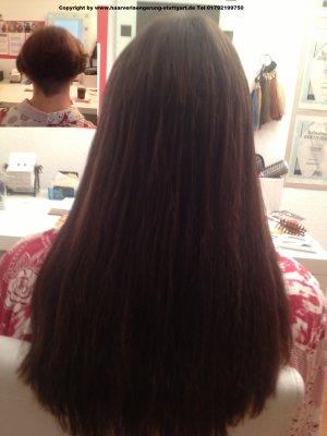 Haarverlängerung bei dicken Haaren