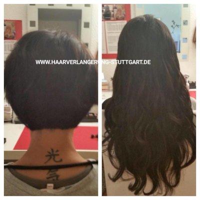 Haarverlängerung bei sehr kurzen Eigenhaar