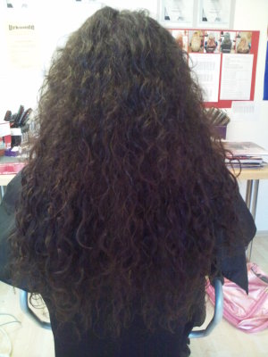 lockige Haare verlängert