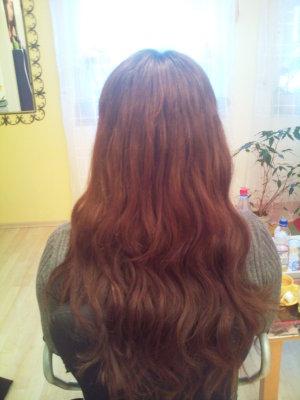 Haarverlängerung foto nachher kurze Haare